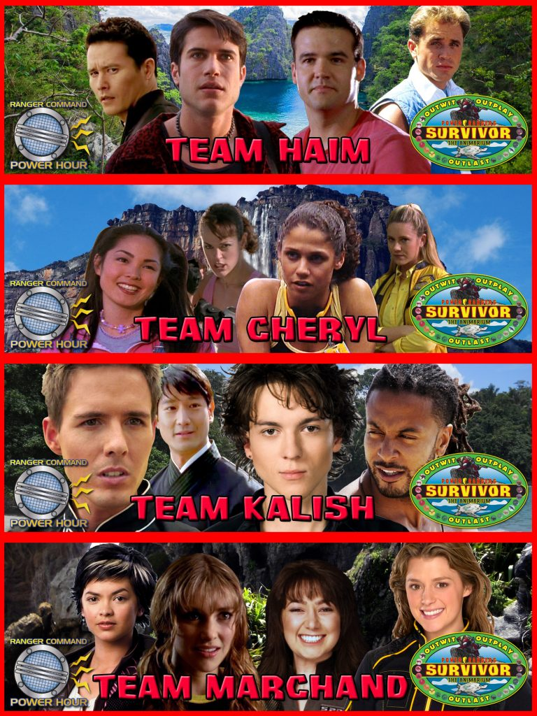 Power Rangers Survivor Animarium Teams